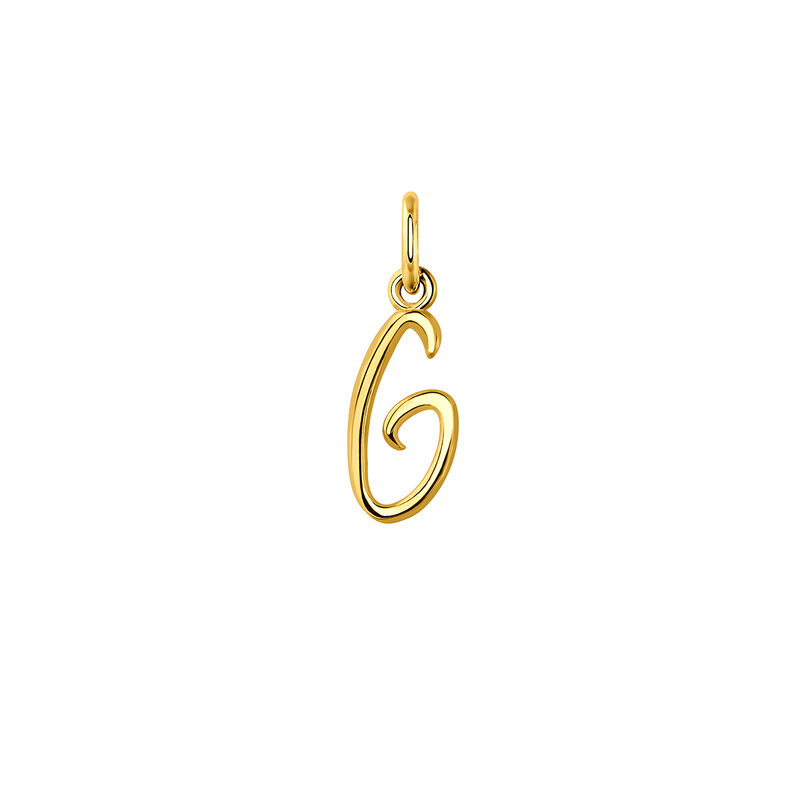 gold plated initial G necklace, J03932-02-G, hi-res