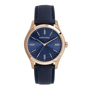 Mitte watch blue strap blue face, W41A-PKPKBU-LEBU, hi-res