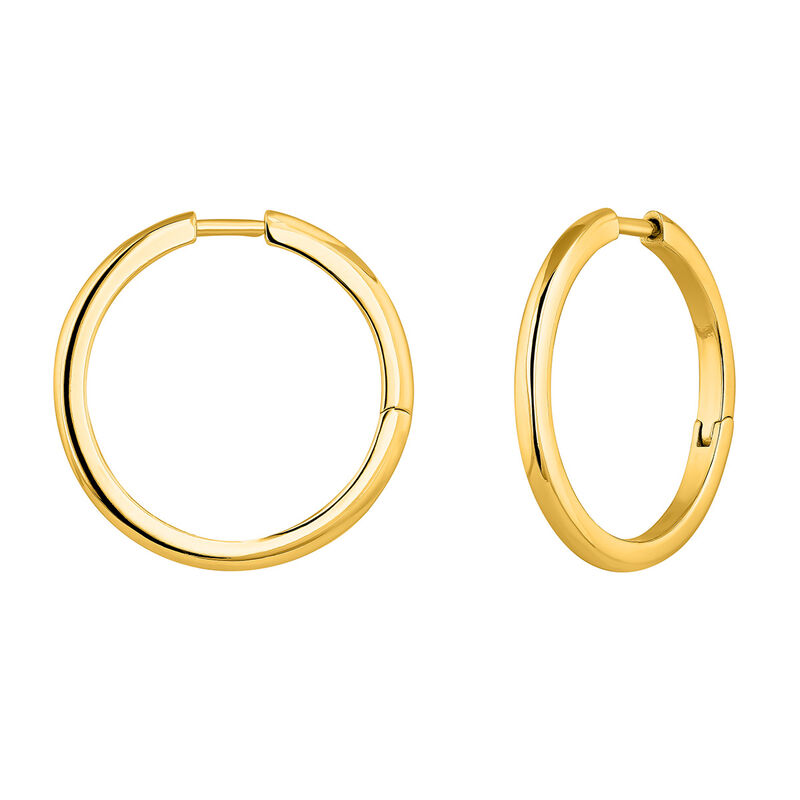 Mix & match gold-plated silver hoop earrings, J04643-02, hi-res
