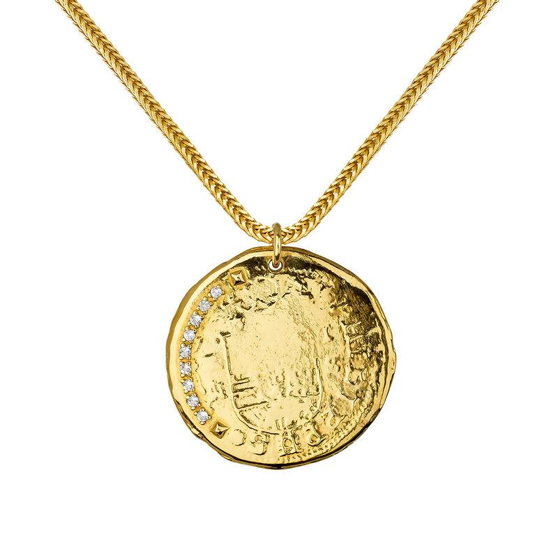 Colgante moneda topacio oro, J03590-02-WT, hi-res