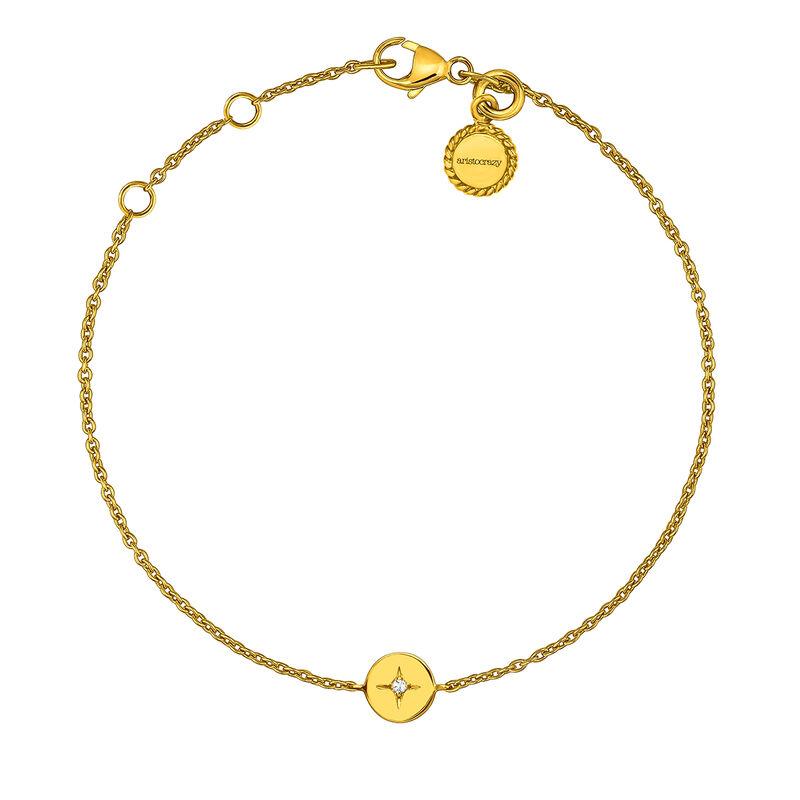 Pulsera círculo topacio plata recubierta oro, J03790-02-WT, hi-res