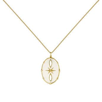 Collier bohème oval or, J03908-02-WMS, hi-res