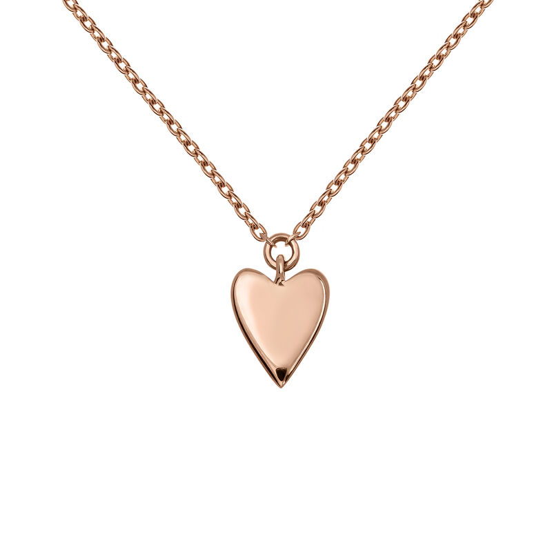 Rose gold heart necklace, J03864-03, hi-res