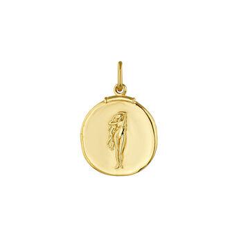 Pendentif vierge argent plaqué or, J04780-02-VIR, hi-res