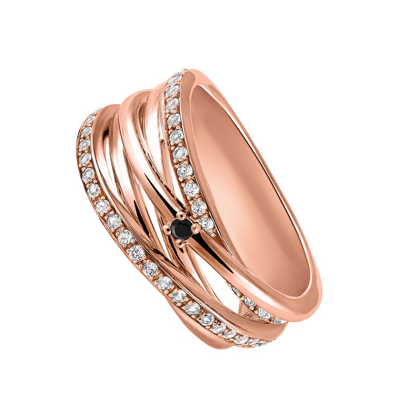 Rose gold plated ring with spinels and topaz, J03351-03-WT-BSN, hi-res