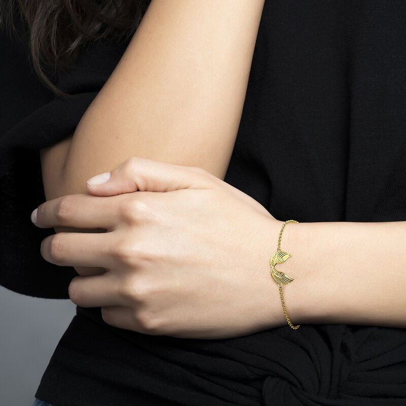 Gold wings bracelet, J04302-02, hi-res