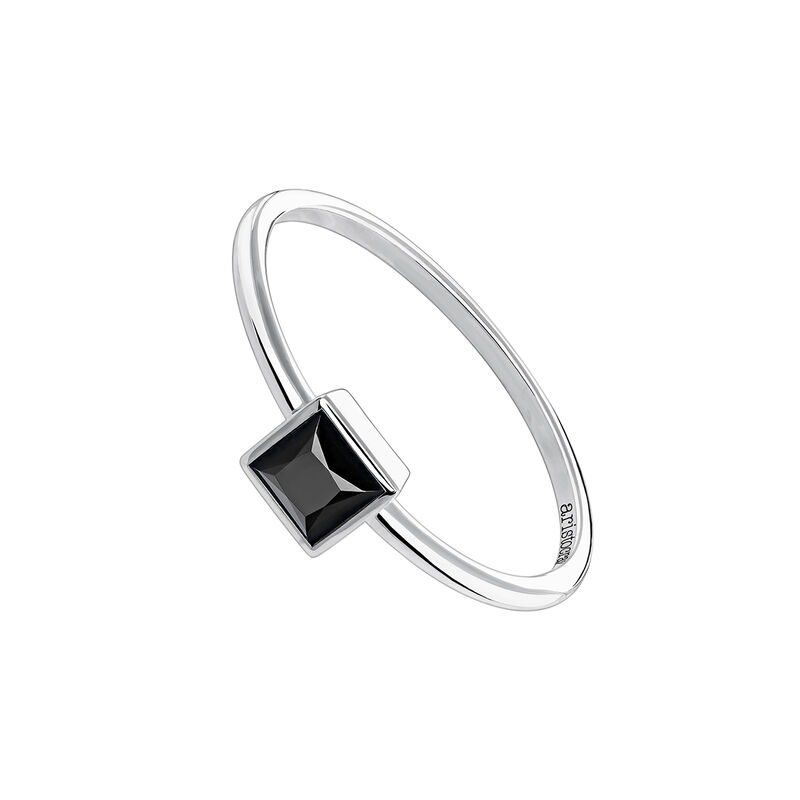 Silver spinel ring, J04087-01-BSN, hi-res