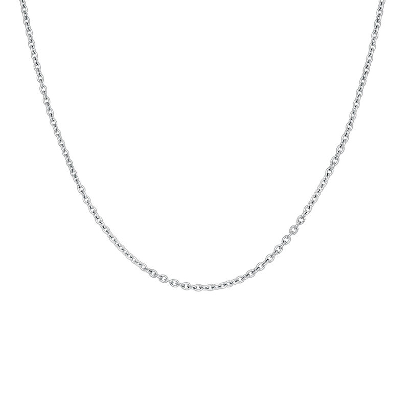 Silver simple chain, J03434-01, hi-res