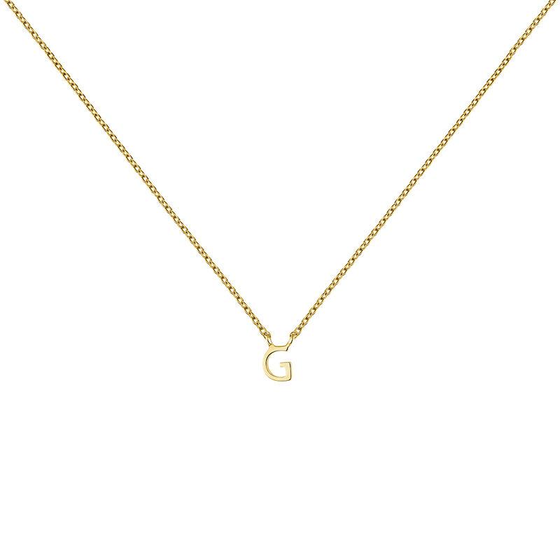 Gold Initial G necklace, J04382-02-G, hi-res