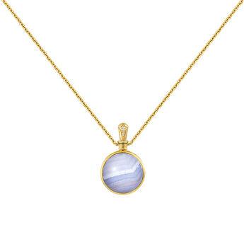 Collar pequeño ágata azul oro, J04125-02-BLAG-WT, hi-res