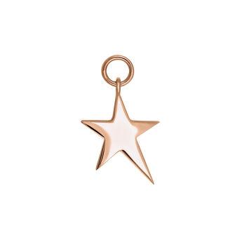 Rose gold asymmetric star necklace, J03777-03, hi-res