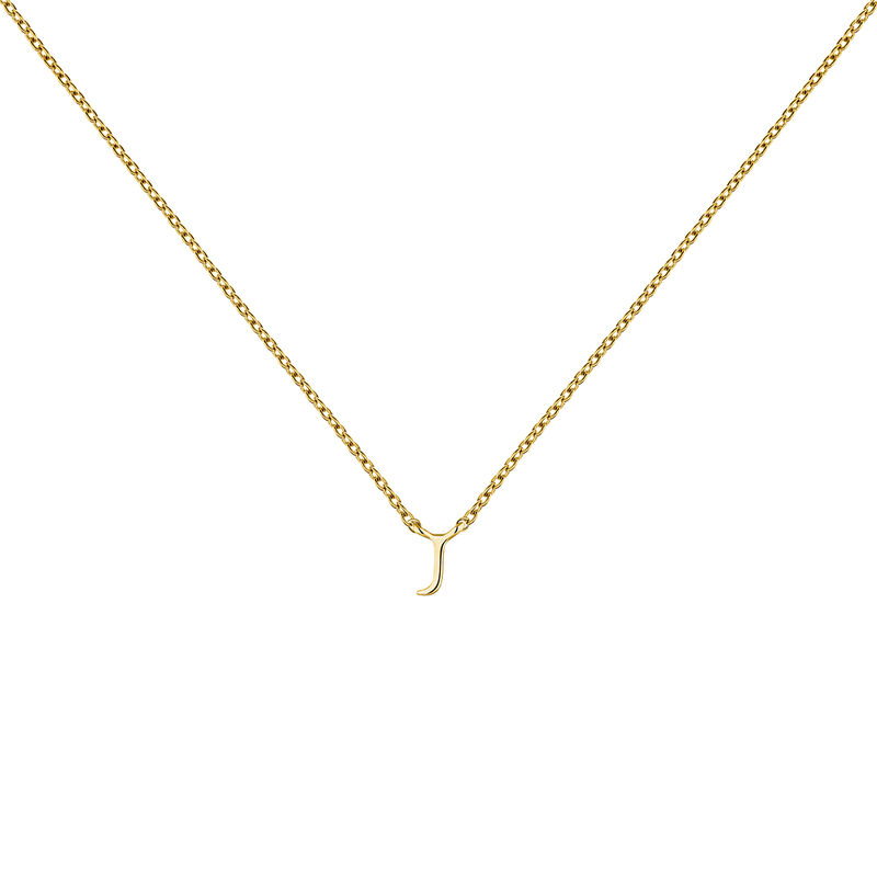 Collier initiale J or, J04382-02-J, hi-res