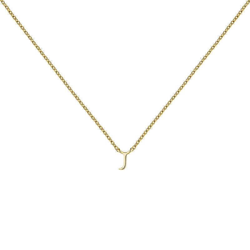 Gold Initial J necklace, J04382-02-J, hi-res