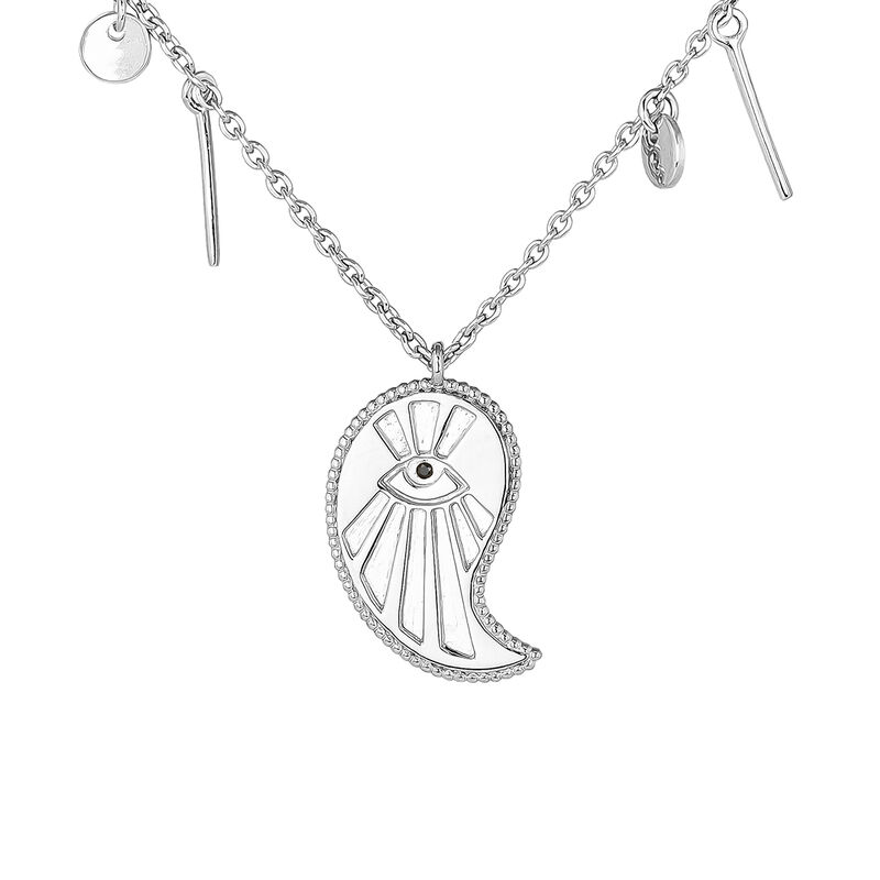 Cashmere necklace with pendants silver, J04139-01-BSN, hi-res