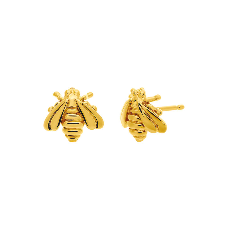 Pendientes abeja oro amarillo, J03445-02, hi-res