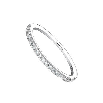 Anillo orla diamantes 0,19 ct oro blanco, J03938-01-19, hi-res
