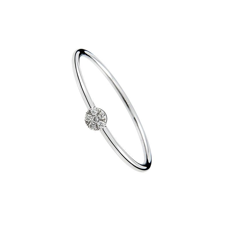 Anillo mini roseta oro diamantes 0,03 ct, J01346-01, hi-res