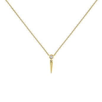 Colgante pincho diamante oro amarillo, J03885-02, hi-res