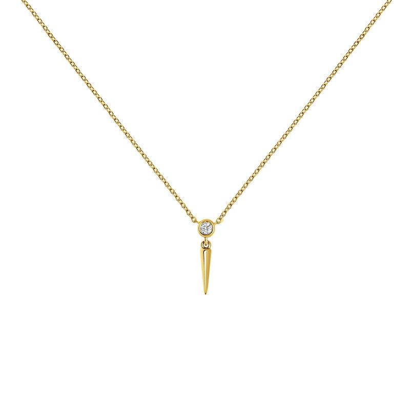 Colgante pincho diamante oro amarillo 0,021 ct, J03885-02, hi-res