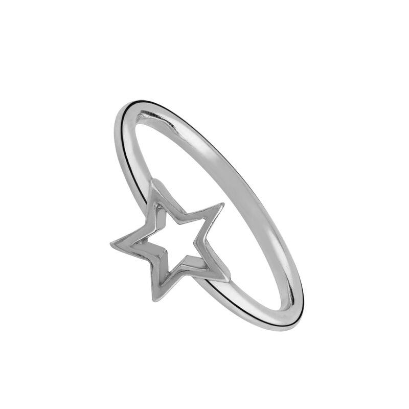 Anillo estrella hueca plata, J01893-01, hi-res