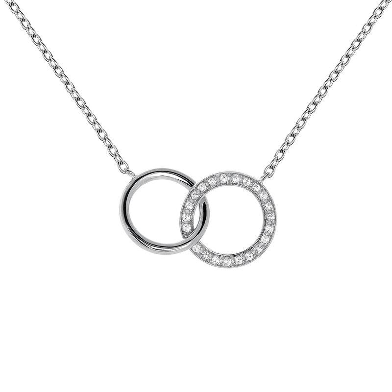 Colgante doble círculo topacios plata, J03667-01-WT, hi-res