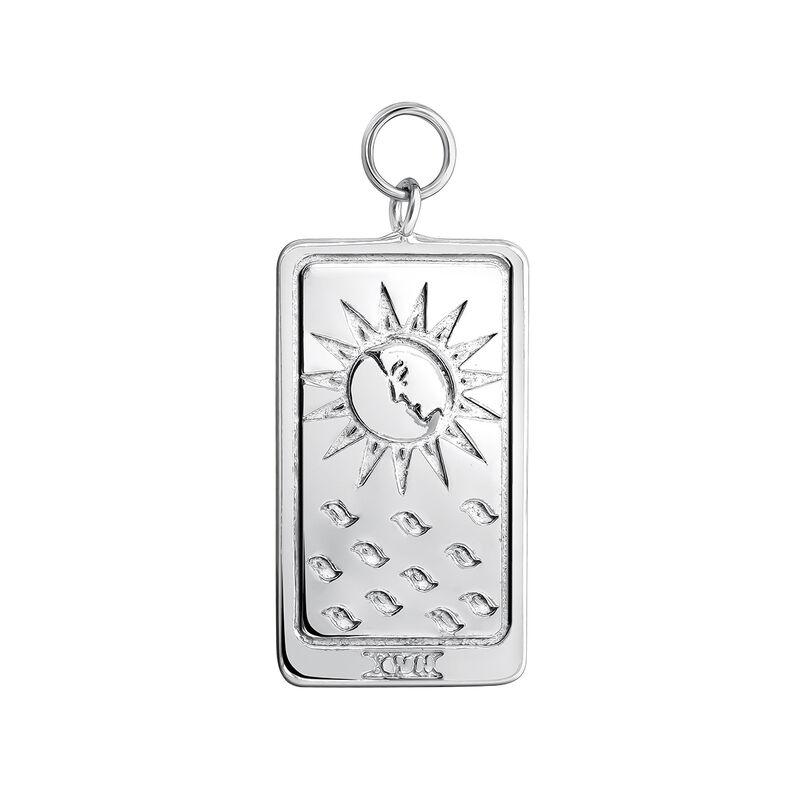 Silver La Lune card pendant, J04039-01, hi-res