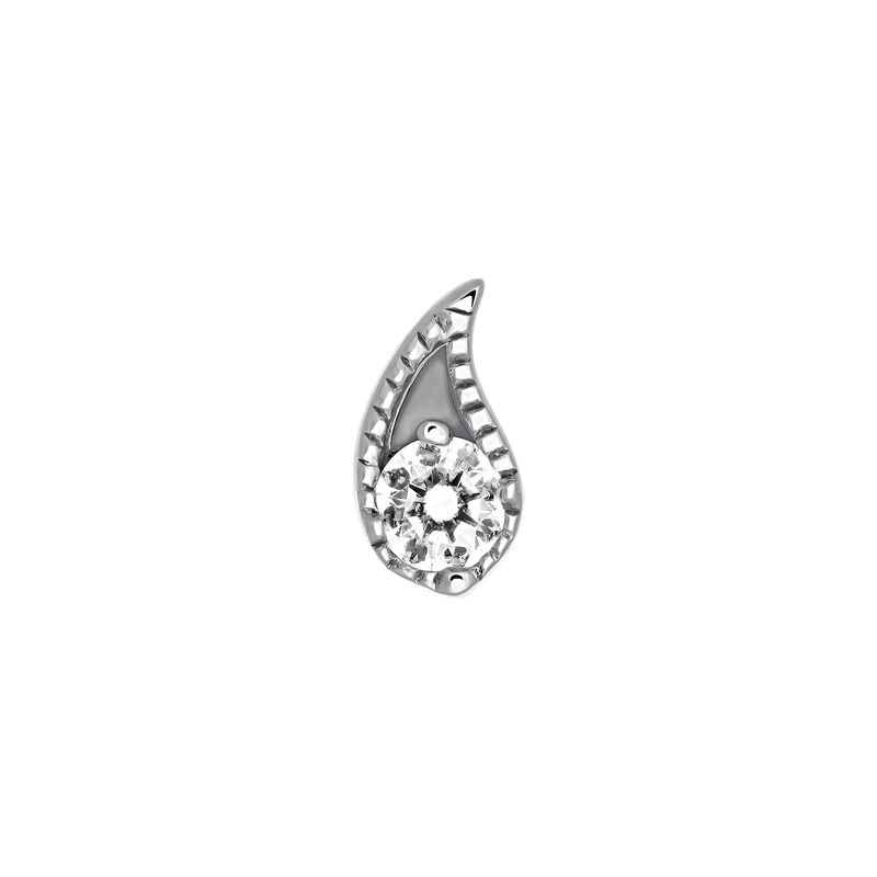 Pendiente piercing diamante oro blanco 0,07 ct, J03385-01-H, hi-res