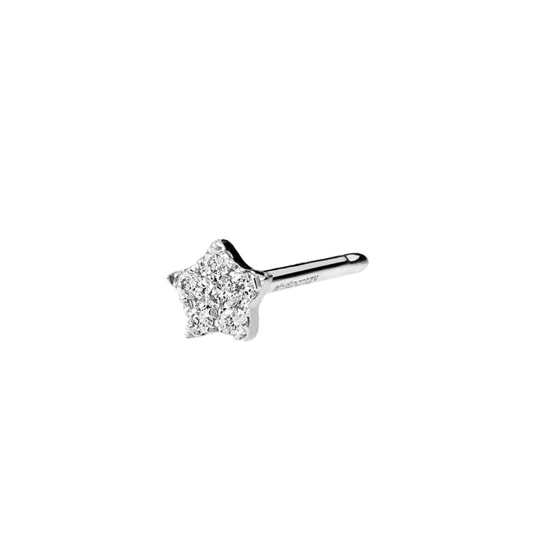 Pendiente mini diamantes oro blanco 0,05 ct, J01353-01-H, hi-res