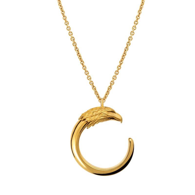 Large gold plated eagle necklace, J00730-02, hi-res