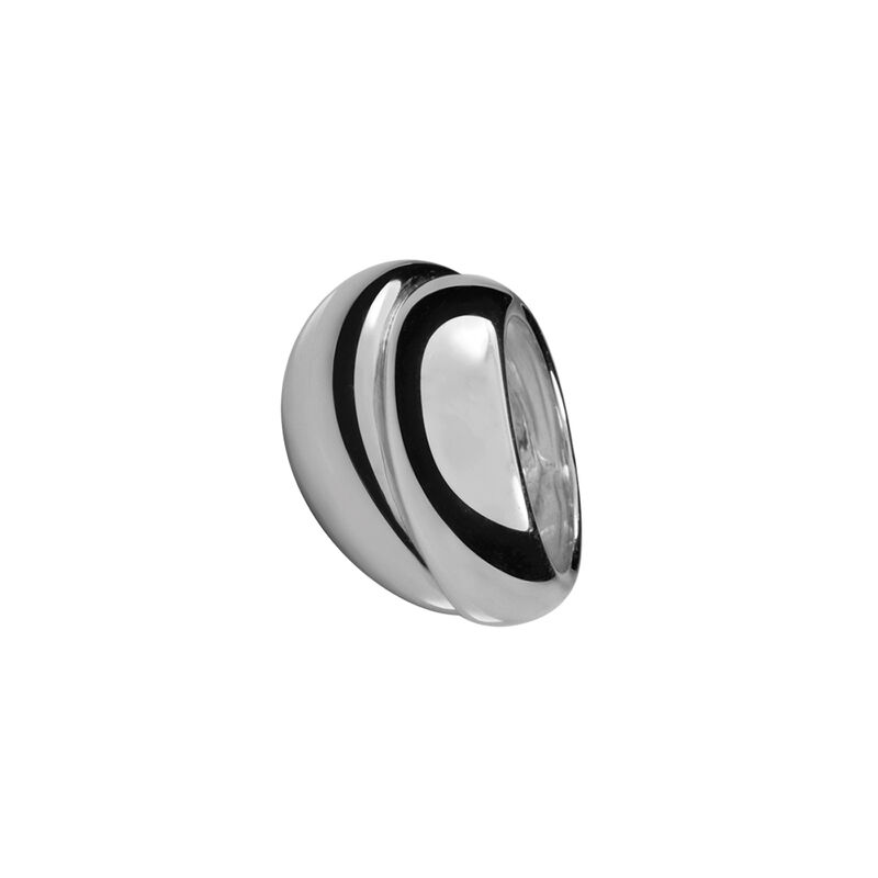Silver double bombé ring, J00796-01, hi-res