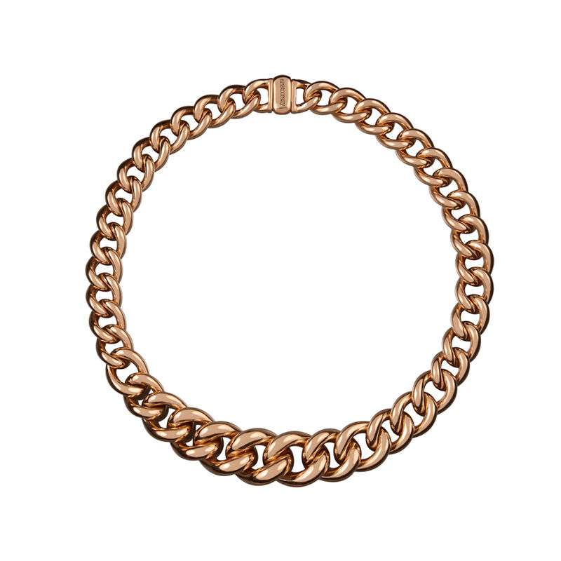 Rose gold reduction link necklace, J00153-03, hi-res