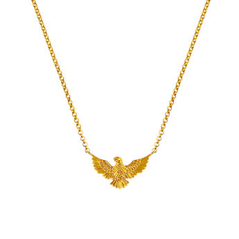 Gold eagle necklace, J03053-02, hi-res