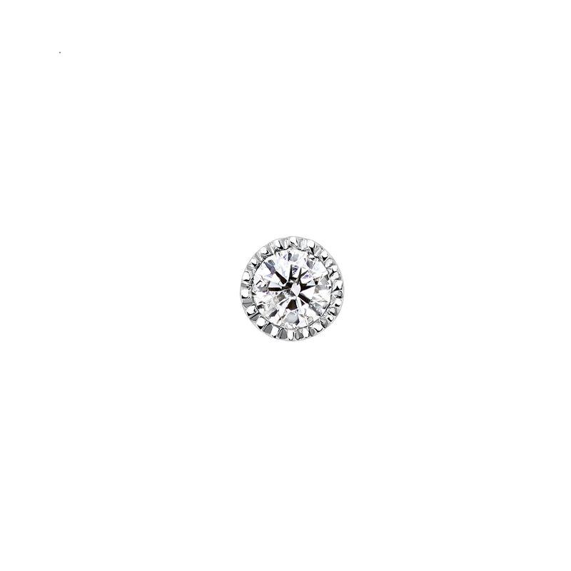 Pendiente piercing mini diamante oro blanco 0,068 ct, J03550-01-H, hi-res