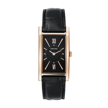 Le Marais watch black crocodile strap, W47A-PKPKBL-LEBL, hi-res