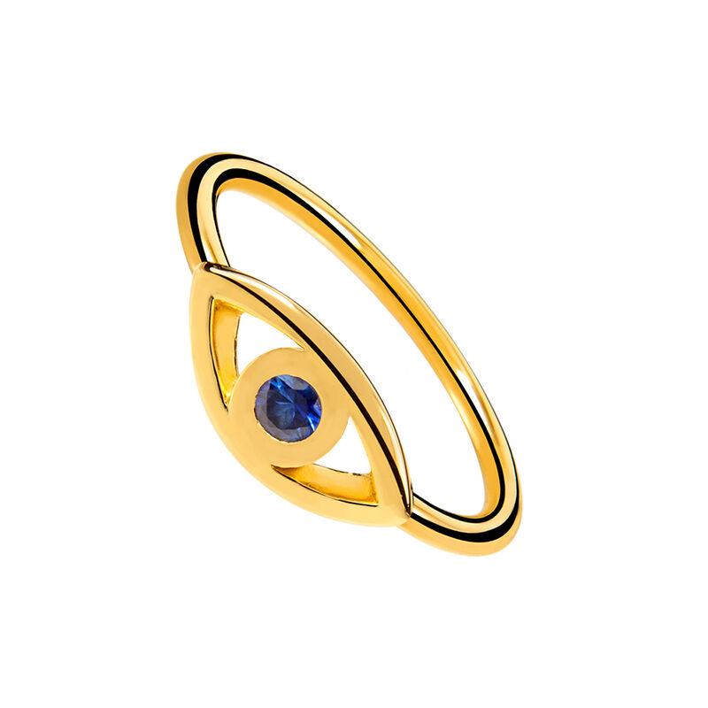 Anillo ojo zafiro azul oro , J02085-02-BS, hi-res