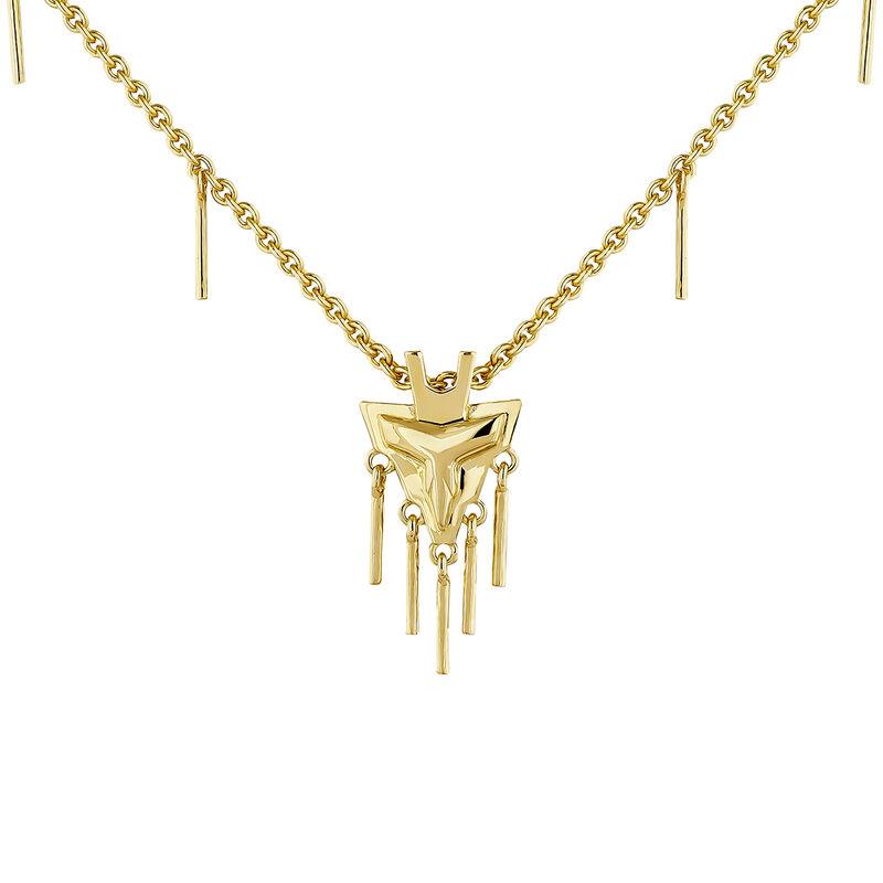 Gold plated fantasy motifs necklace, J04554-02, hi-res