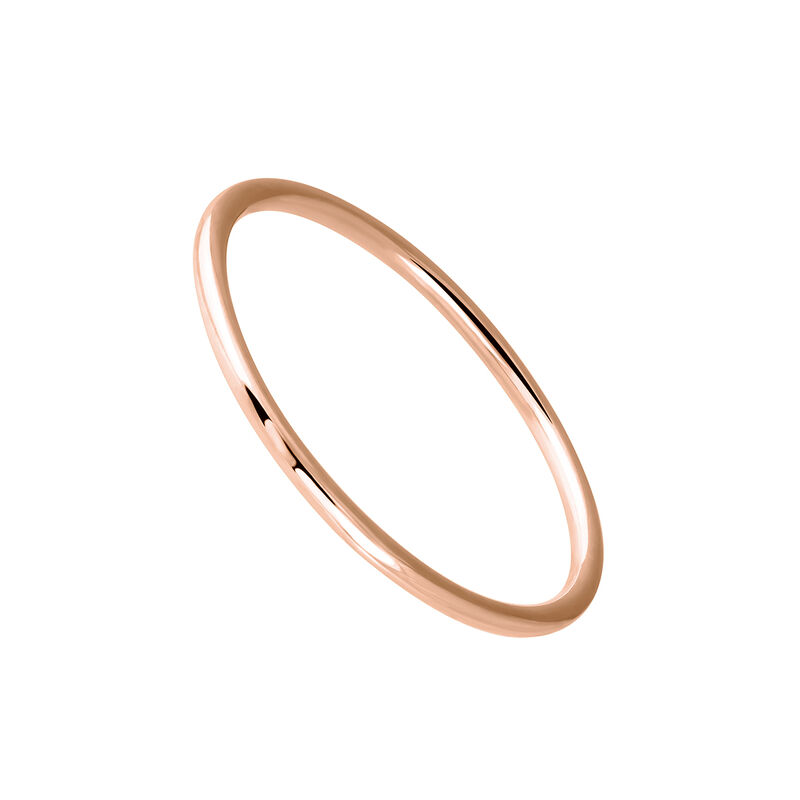 Simple rose gold ring, J03854-03, hi-res