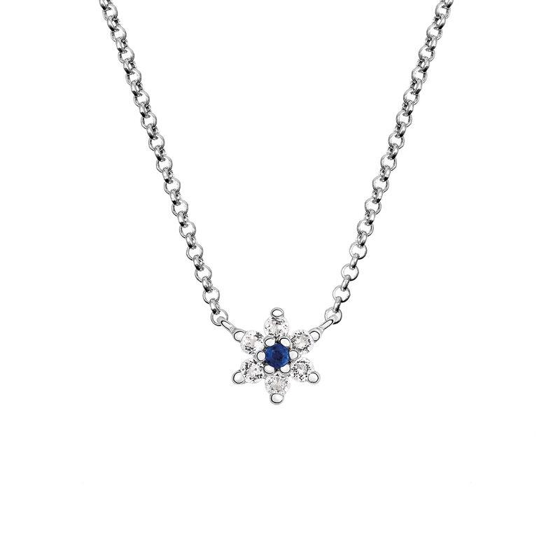 Colgante flor zafiro azul plata, J03333-01-BS-WT, hi-res