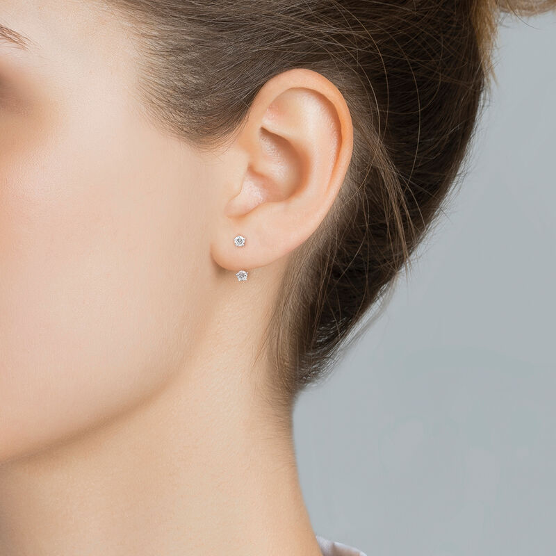 Gold diamonds ear jacket 0.10 ct, J03358-01-H, hi-res