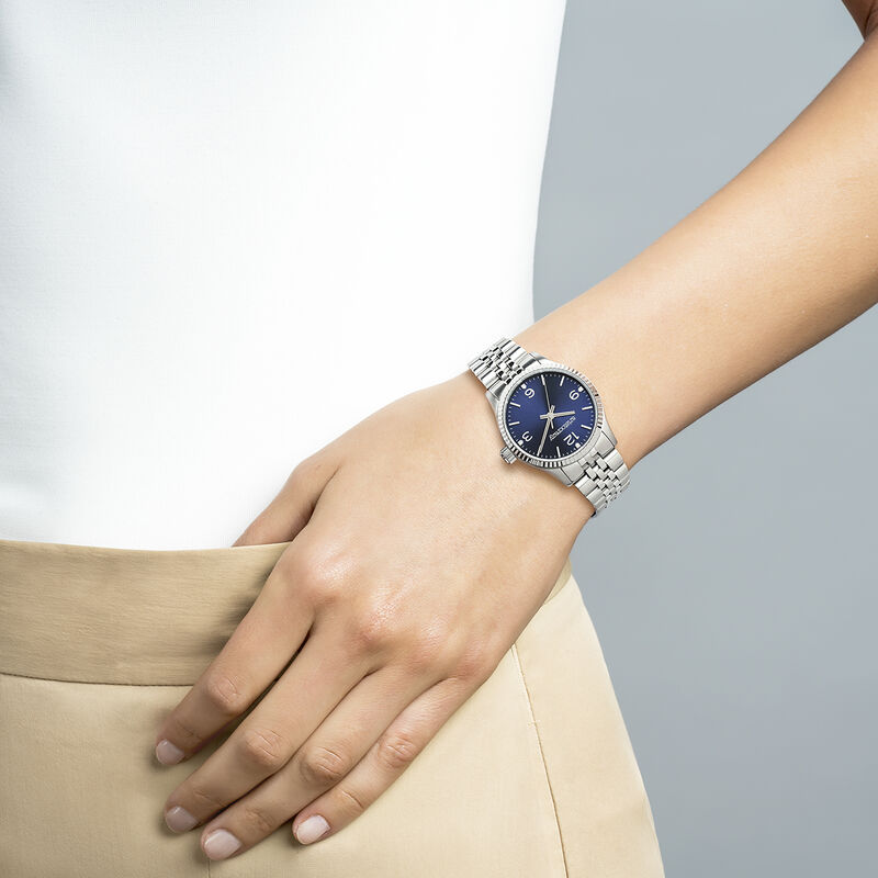 St. Barth watch bracelet blue face, W30A-STSTDB-AXST, hi-res