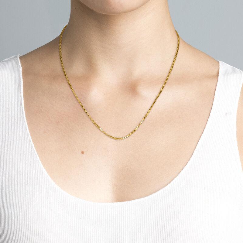 Cadena cajas plata recubierta oro, J04612-02, hi-res