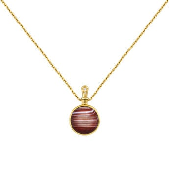 Small necklace red agate gold, J04124-02-BAAG-WT, hi-res