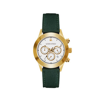 Soho watch green strap white face., W29A-YWYWWH-FAGE, hi-res
