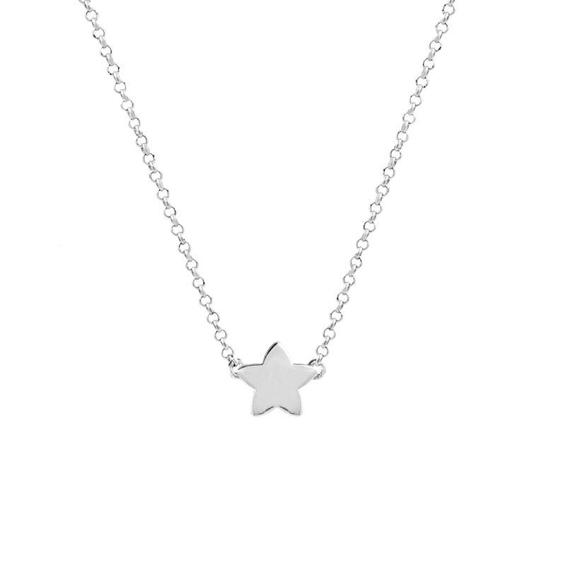 Collier étoile argent, J01083-01, hi-res