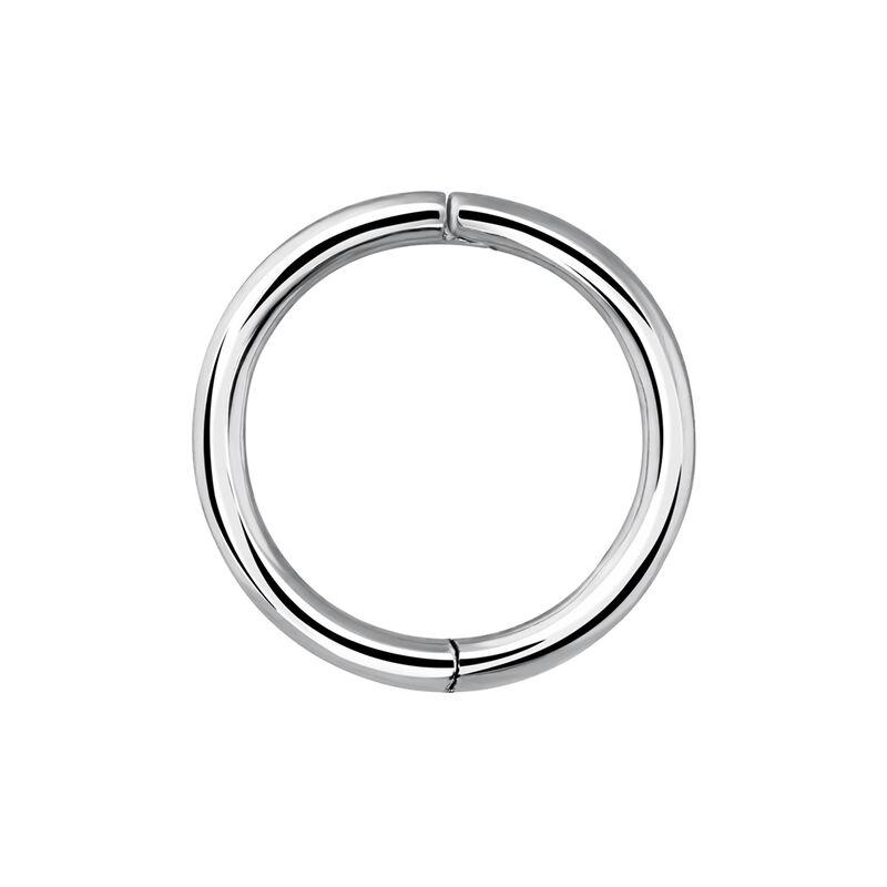 Large white gold hoop earring piercing, J03844-01-H, hi-res