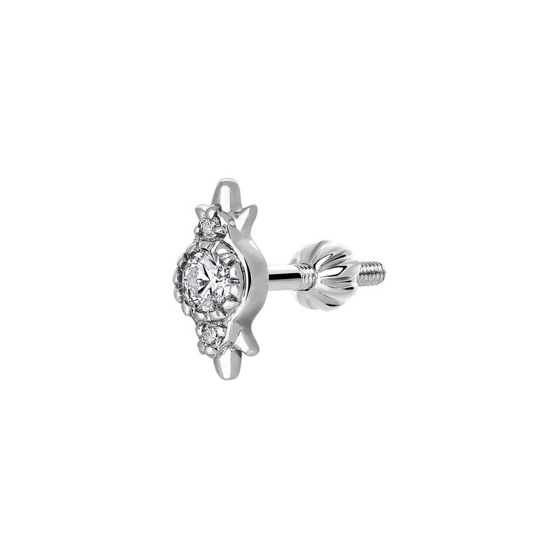 Piercing tres diamantes 0,049 ct oro blanco 9 kt, J03382-01-H, hi-res