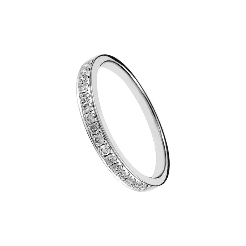 Anillo banda diamante oro blanco 0,2 ct, J00789-01-20, hi-res
