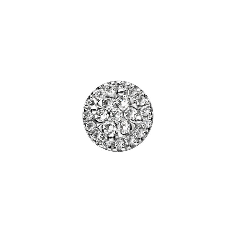 Pendiente orla en oro diamantes 0,075 ct, J00792-01-15-H, hi-res