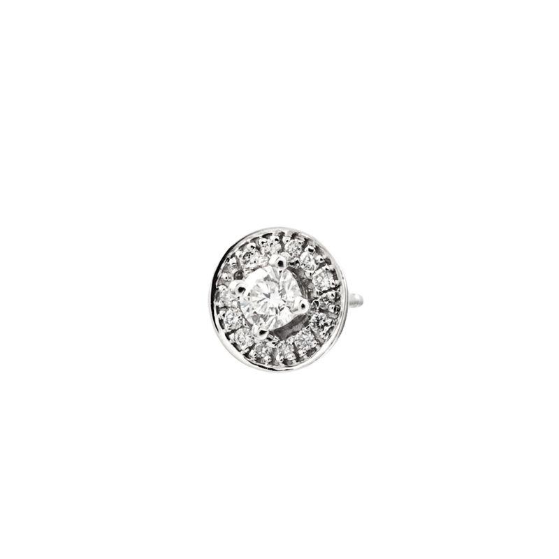 Pendiente orla diamantes oro blanco 0,2 ct, J00175-01-10-H, hi-res