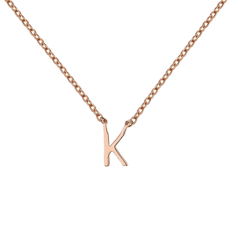 Collier initiale K or rose, J04382-03-K, hi-res
